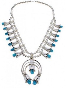 About the Turquoise Squash Blossom Necklace